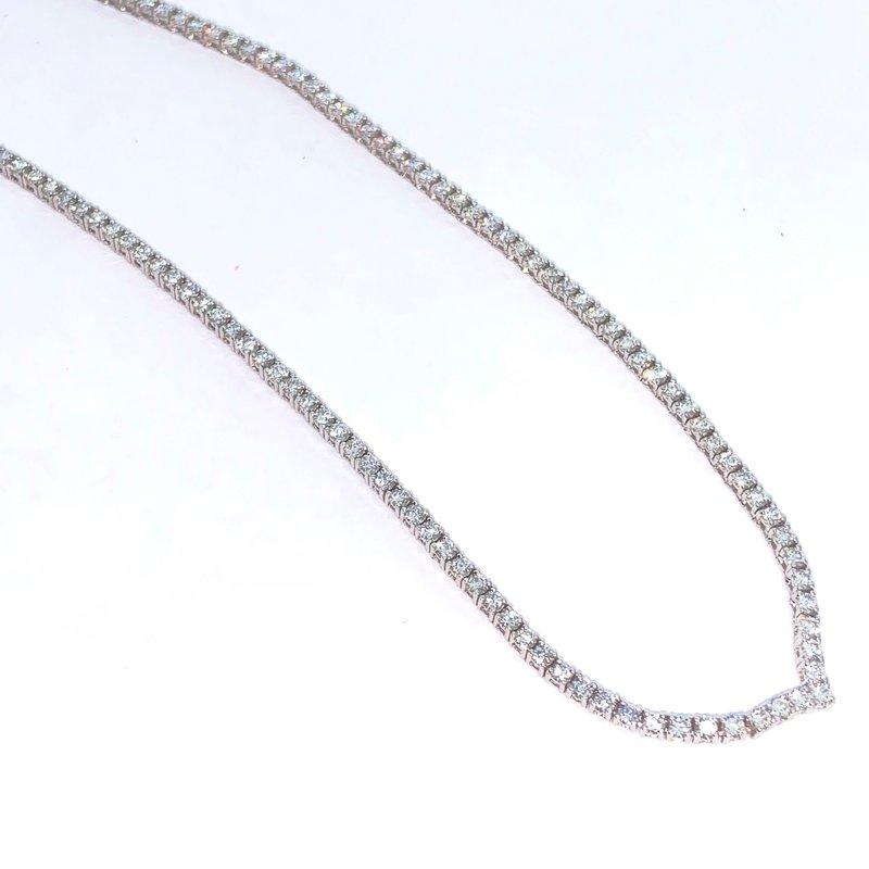 Decor V Shape Diamond Collar Necklace