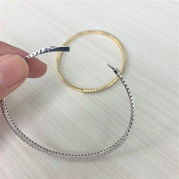 1ctw Flexible Diamond Bangle Bracelet