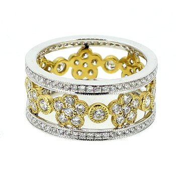 Open Design Floral Eternity Band