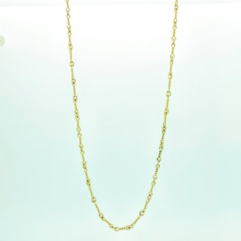 Gold Twist Link Necklace