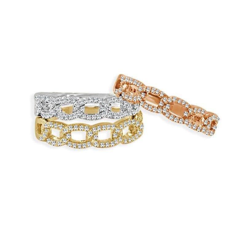 Sabrina Diamond Chain Link Ring