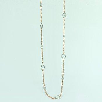 """2.51ctw Rose Cut Diamond Necklace 18"""""""