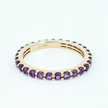 Amethyst Stackable Eternity Band