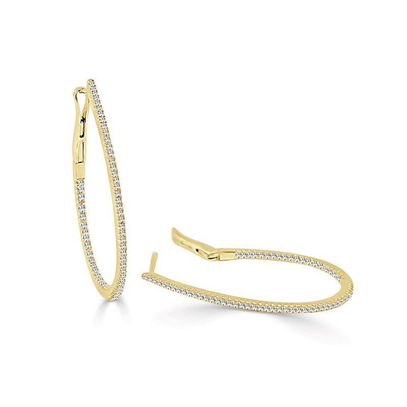 Sabrina Diamond Skinny Hoop Earrings