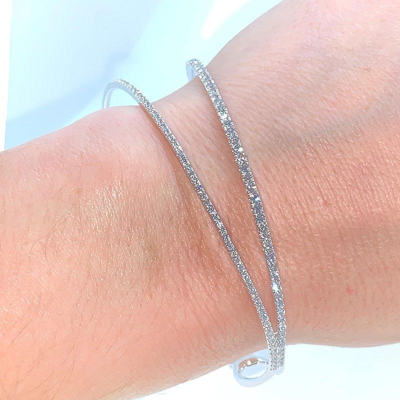 Decor 1.50ctw Asymmetrical Diamond Cuff Bracelet