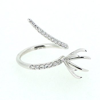Diamond Swirl Ring Mounting