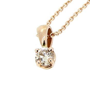 Rose Gold Diamond Pendant