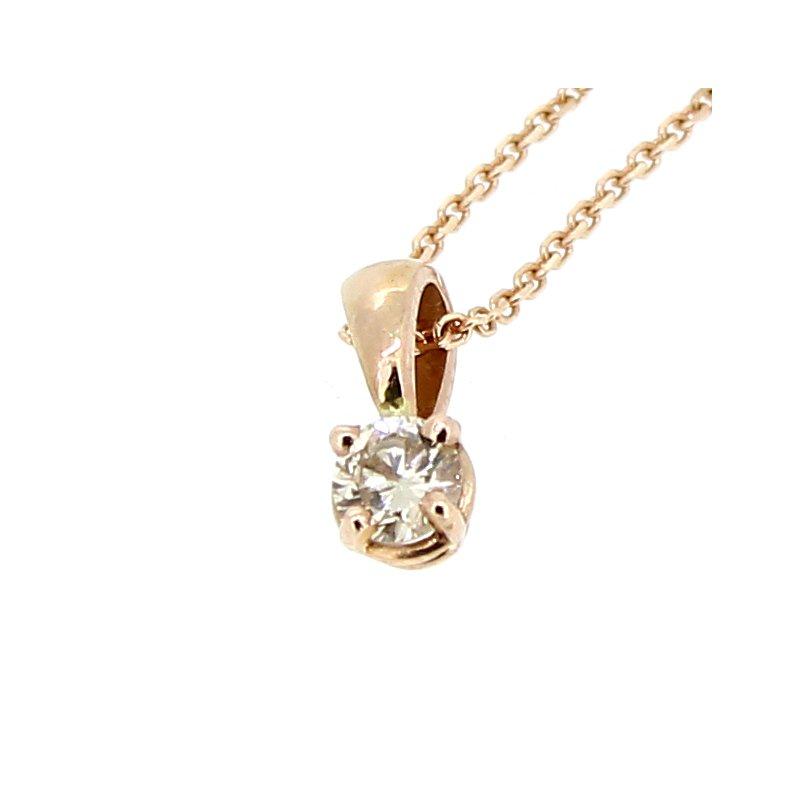 Decor Rose Gold Diamond Pendant