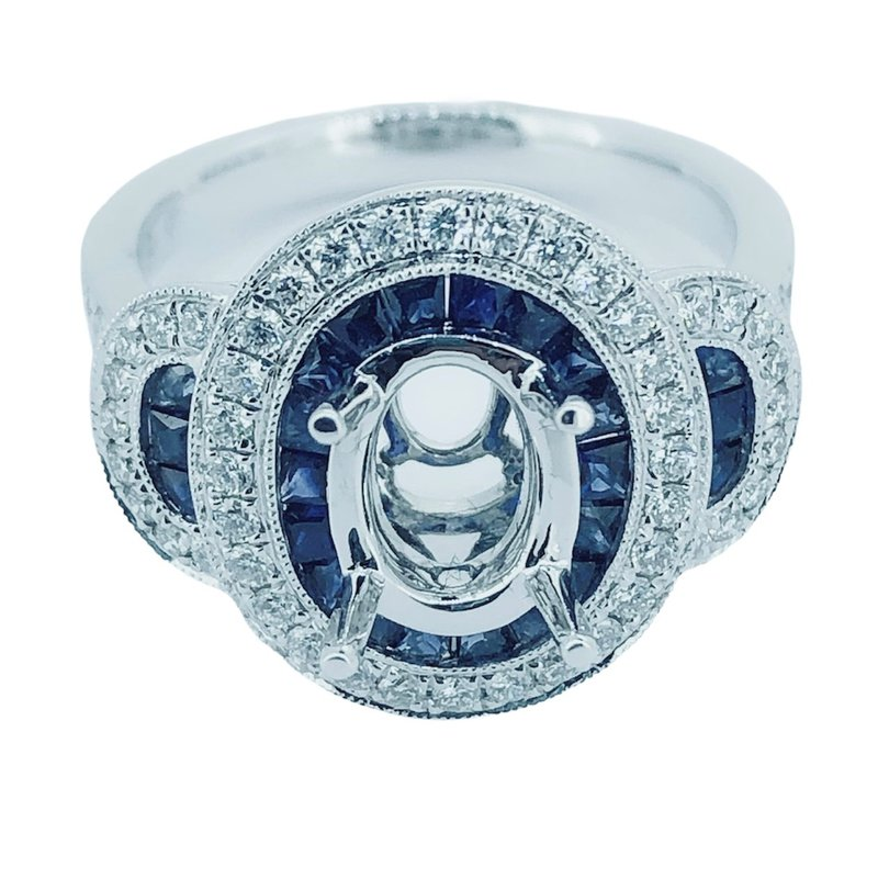 Decor Sapphire & Diamond Ring Mounting