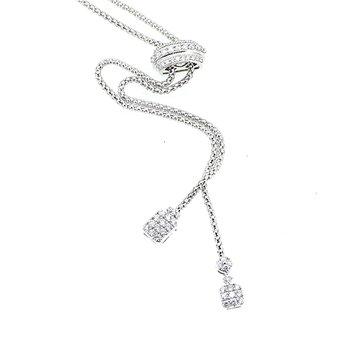 Adjustable Diamond Bolo Necklace