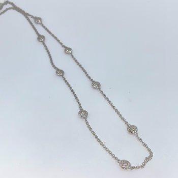 Pave Diamond Stations Necklace