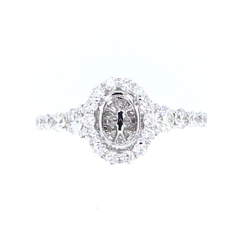 Decor Oval Diamond Halo Ring Mounting