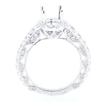 Oval Diamond Halo Ring Mounting