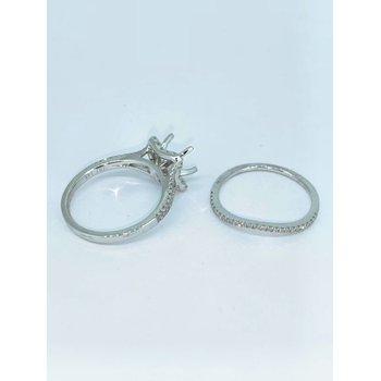 Curved Halo Wedding Set Mounting