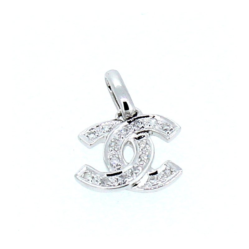 Decor Diamond Chanel Style Logo Pendant