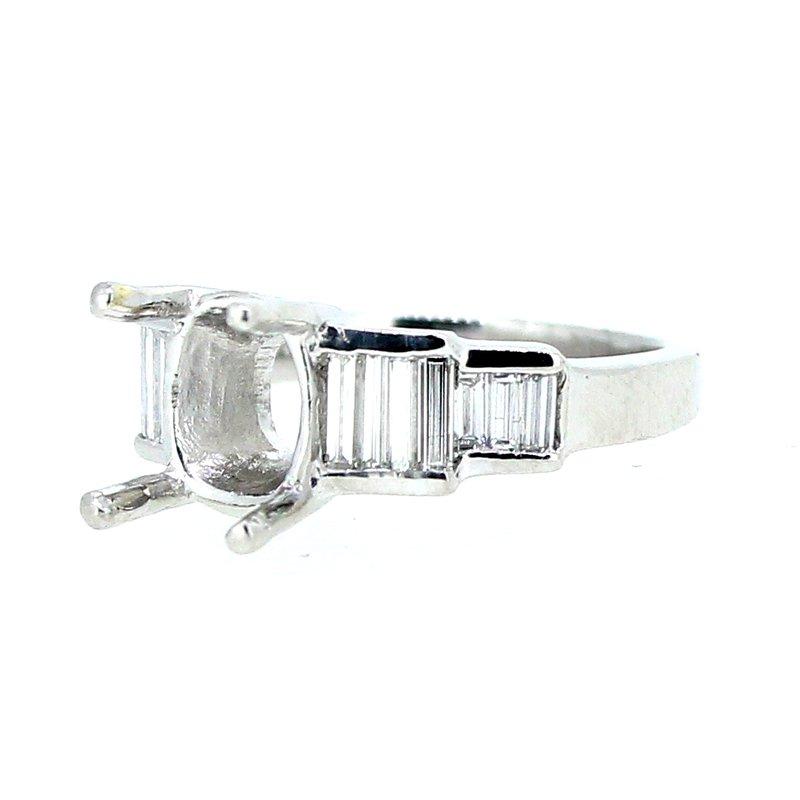 Decor Baguette Platinum Ring Mounting