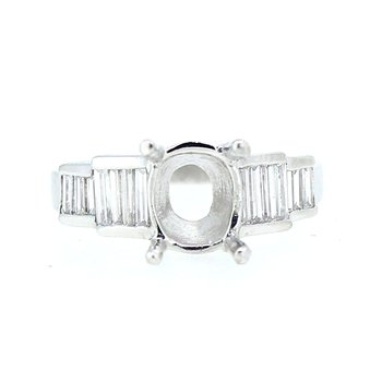 Baguette Platinum Ring Mounting