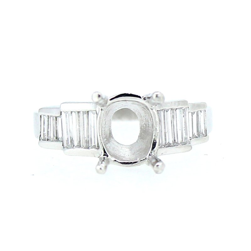 Decor Baguette Platinum Ring Mounting