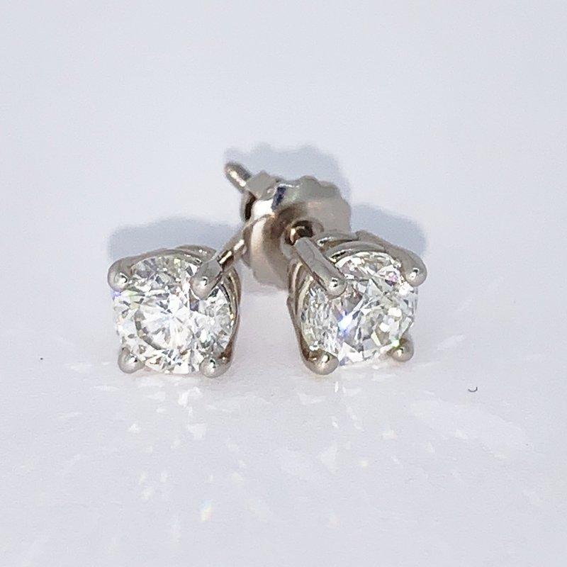 Decor 1.52ctw Diamond Stud Screwback Earrings