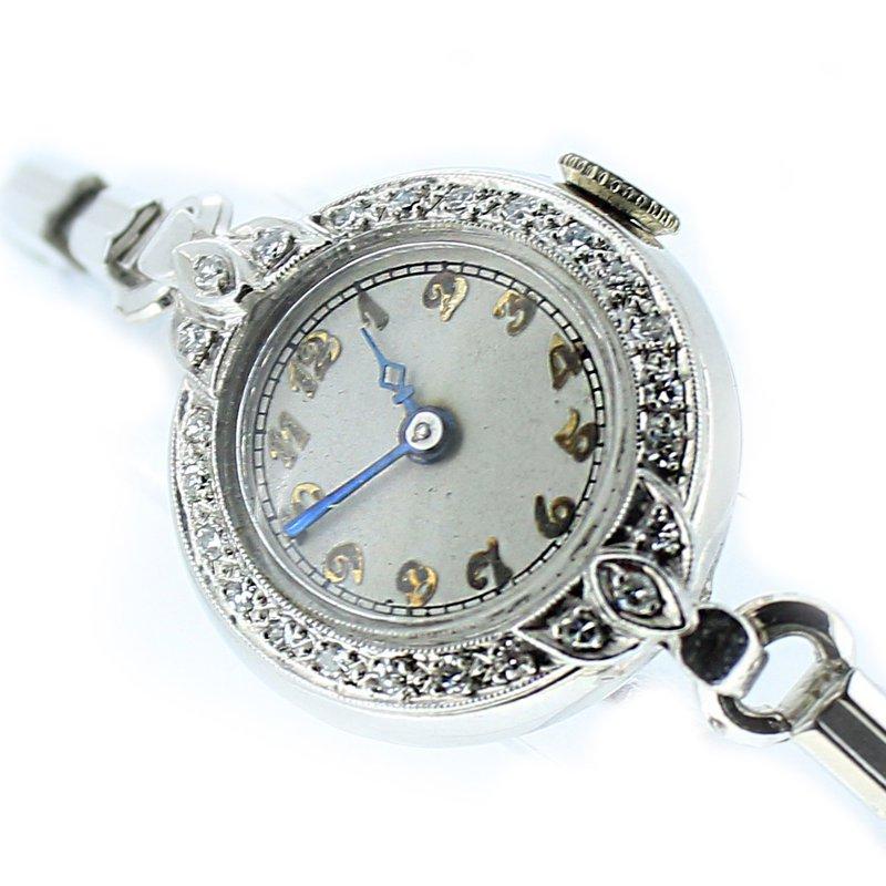 Decor Platinum & Diamond Ladies Watch