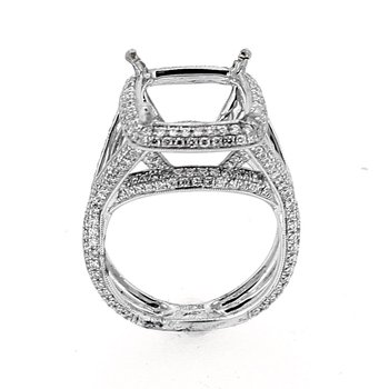 Pave Twist Ornate Diamond Ring Mounting