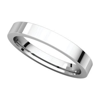 Thin 3mm Flat Comfort Fit Gent's Wedding Band