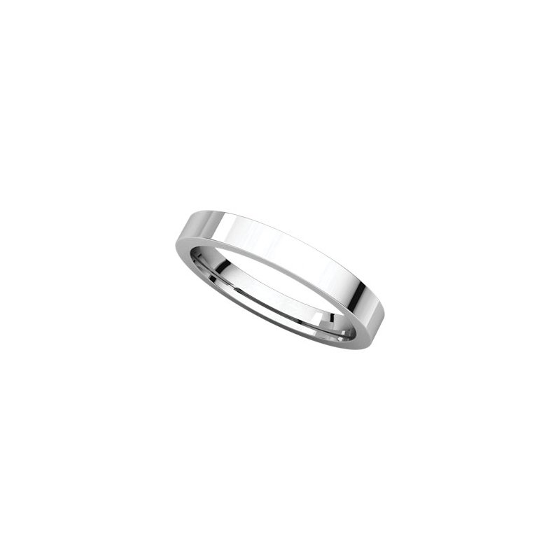 Decor Thin 3mm Flat Comfort Fit Gent's Wedding Band