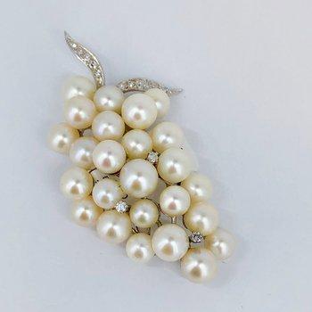 Pearl Grape Cluster Brooch