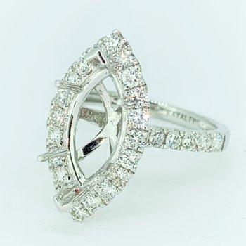 Marquise Halo Diamond Ring Mounting