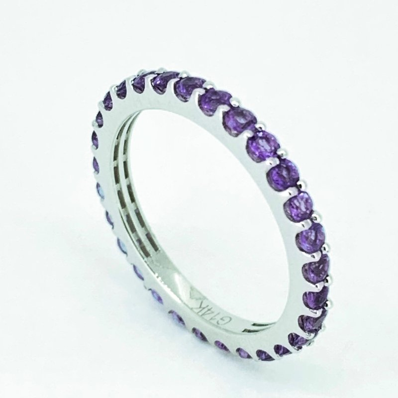 Decor Amethyst Stackable Eternity Band