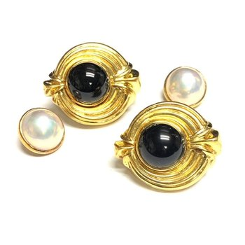 Lagos Interchangeable Onyx and Pearl Earrings