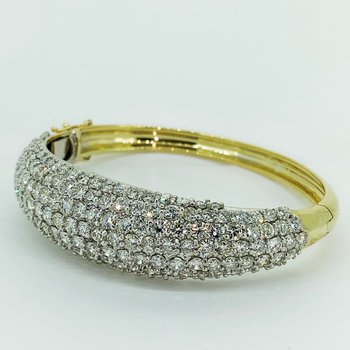 Diamond Bangle Cuff Bracelet