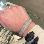 Decor Diamond Bangle Cuff Bracelet
