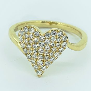 Diamond Pave Heart Ring