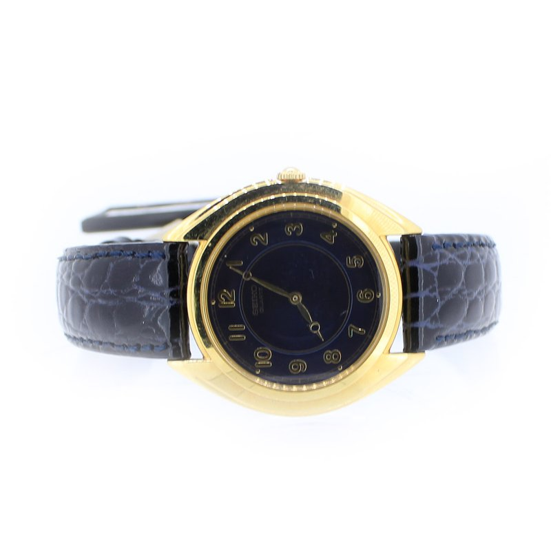 Seiko Gold Watch with Leather Strap