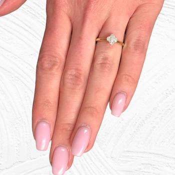 Dainty Diamond Cluster Ring