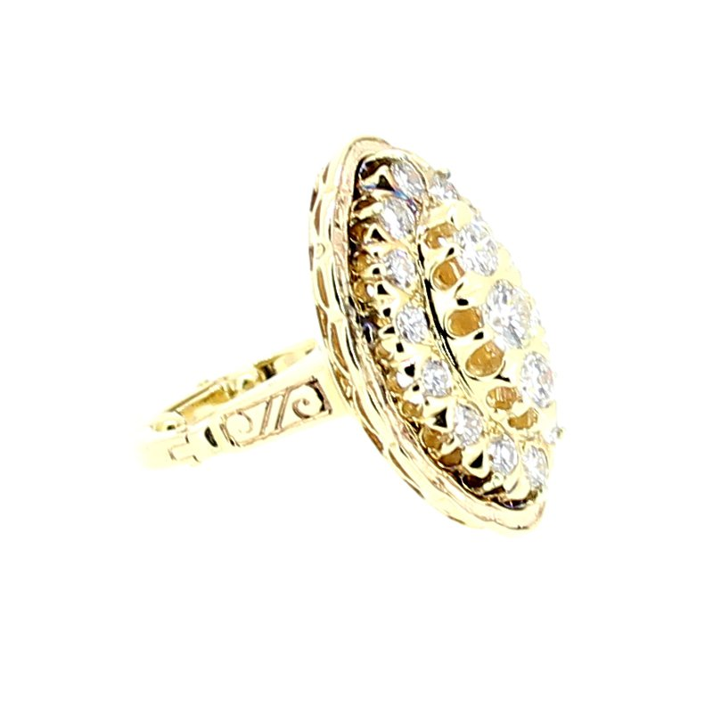Decor Estate Diamond Cluster Ring