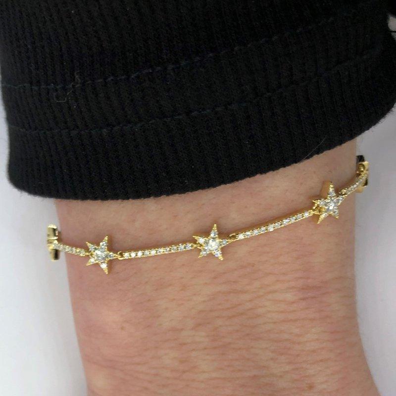 Decor Diamond Star Link Bracelet
