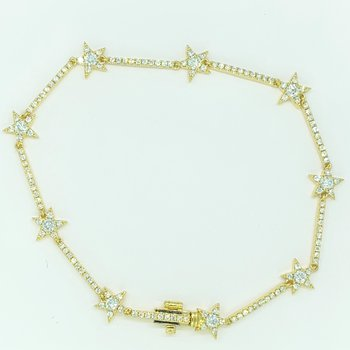 Diamond Star Link Bracelet