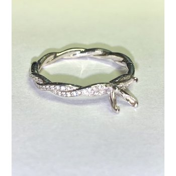 Twisted Diamond Ring Mounting