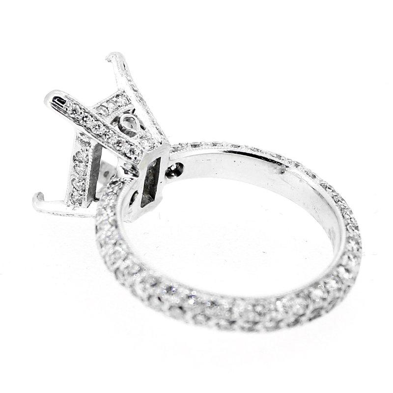 Decor Pave Eternity Rectangular Diamond Ring Mounting