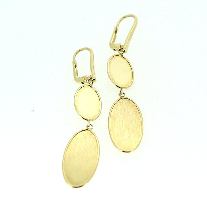 Decor Gold Disc Drop Earrings
