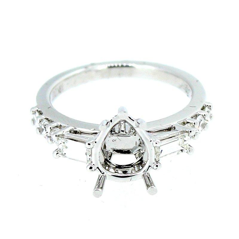 Decor Diamond Ring Mounting for Pear Shape Center
