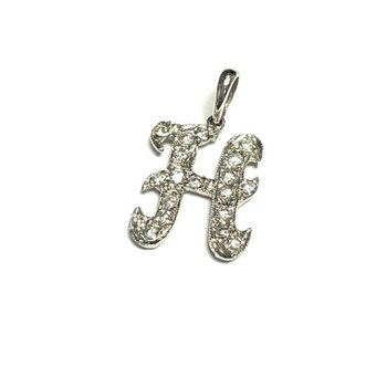 Diamond H Initial Pendant
