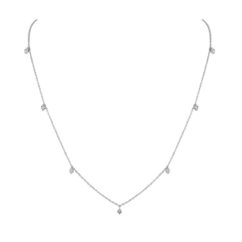 Sabrina Diamond Drop Necklace