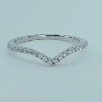 Curved Diamond Wedding Band
