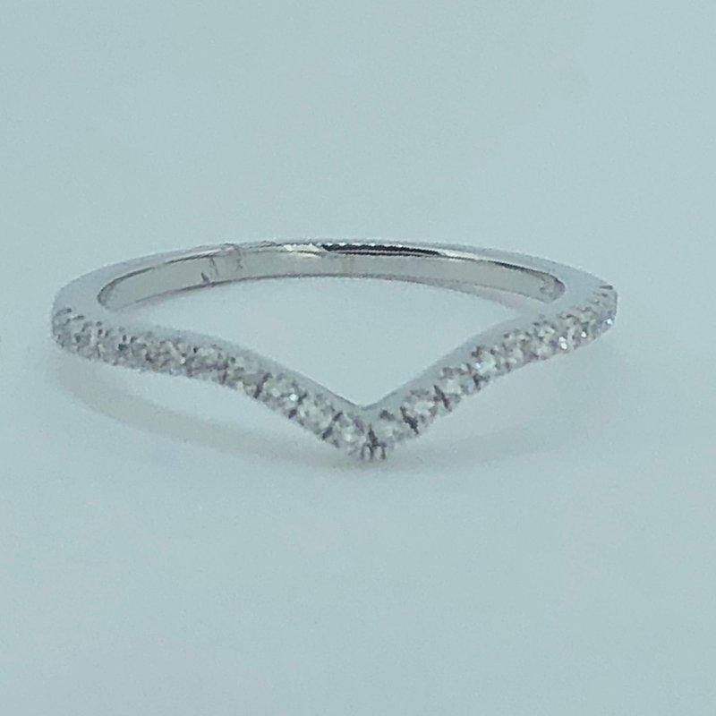 Decor Curved Diamond Wedding Band