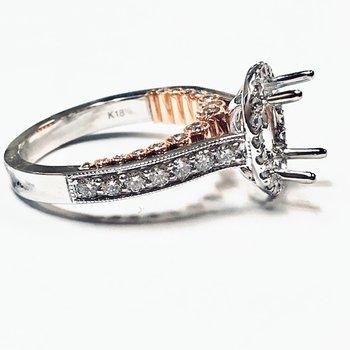 2 Tone Diamond Ring Mounting