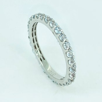 White Sapphire Stackable Eternity Band