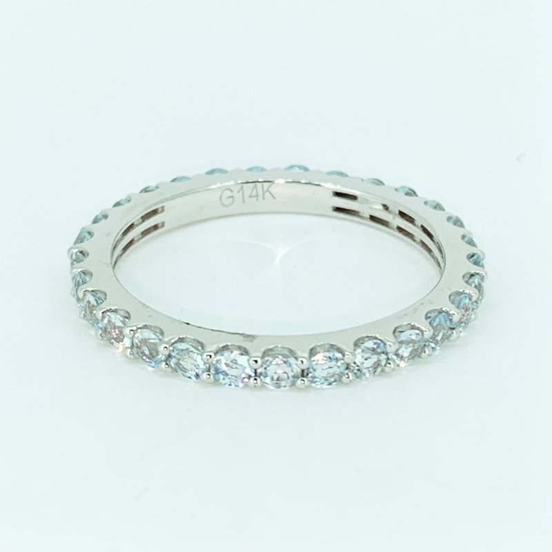 Decor White Sapphire Stackable Eternity Band